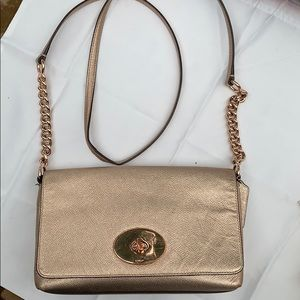 Authentic Rose Gold Coach Purse